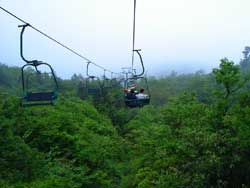 Chairlift on the Top of Tianmen Mountain Scenery Pictures